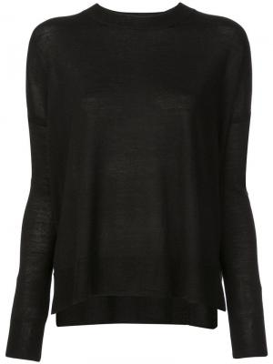 Boxy crew neck Sweater Derek Lam 10 Crosby. Цвет: черный