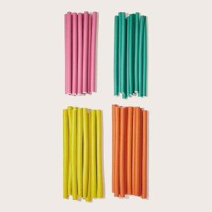 10шт случайные цветные бигуди SHEIN. Цвет: многоцветный