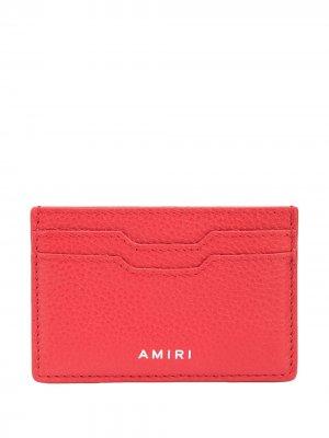 Картхолдер с тисненым логотипом AMIRI. Цвет: красный