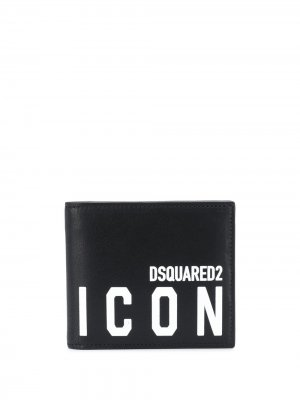 Кошелек с логотипом Icon Dsquared2. Цвет: черный