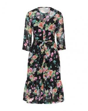 Платье до колена JACQUELINE de YONG. Цвет: черный