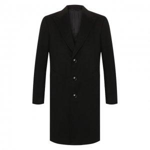Кашемировое пальто Ermenegildo Zegna. Цвет: чёрный