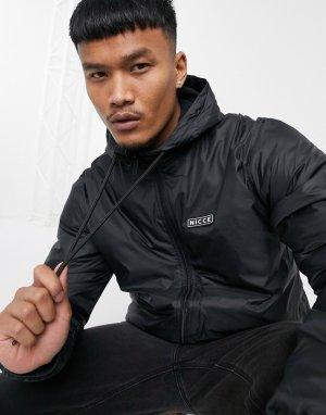 Черная куртка-дождевик с подкладкой из флиса -Черный Nicce