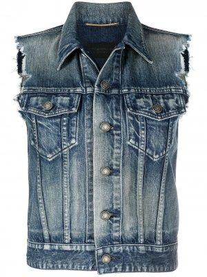 Джинсовый жилет Saint Laurent. Цвет: синий