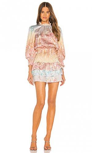 Мини платье madalyn Amanda Uprichard. Цвет: розовый