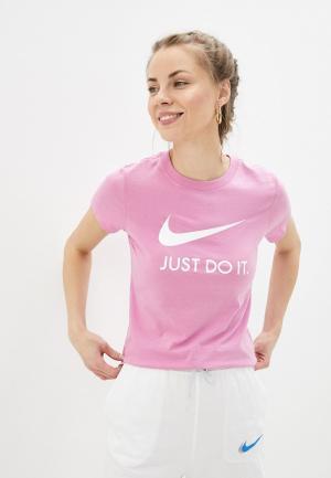 Футболка Nike W NSW TEE JDI SLIM. Цвет: розовый