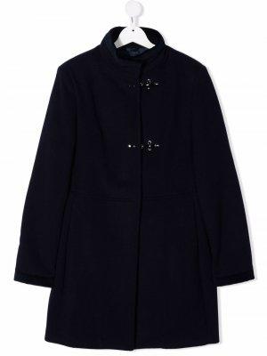 Пальто с высоким воротником Fay Kids. Цвет: синий