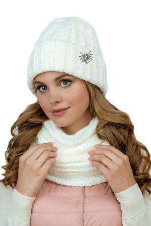 Комплект: шапка, снуд LANDRE. Цвет: l02, молочный