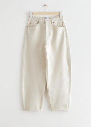 Укороченные джинсы Major Cut &Other Stories. Цвет: белый
