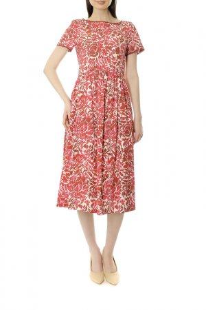 Платье WEEKEND MaxMara. Цвет: розовый, бордовый