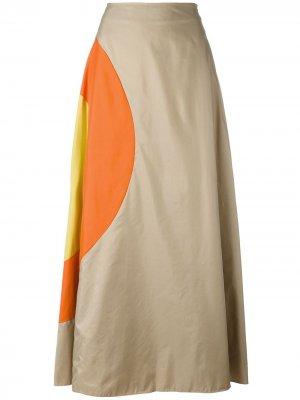 Юбка А-образного силуэта с принтом JC de Castelbajac Pre-Owned. Цвет: нейтральные цвета