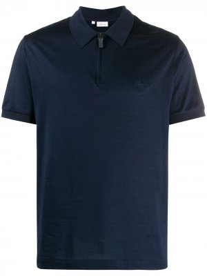Рубашка-поло на молнии Brioni. Цвет: синий