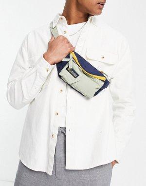 Разноцветная сумка-кошелек на пояс Popo-Белый Columbia