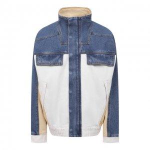 Джинсовая куртка Denim X Alexander Wang. Цвет: разноцветный
