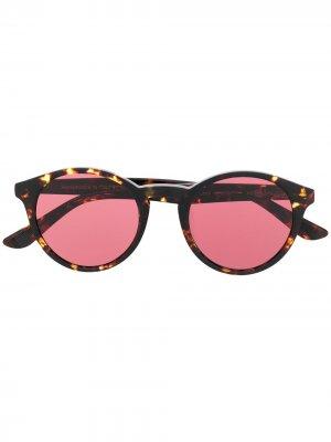 Солнцезащитные очки в круглой оправе Spektre. Цвет: коричневый