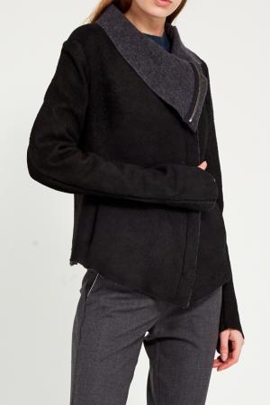 Кожаная куртка с крупным воротником Isaac Sellam. Цвет: черный
