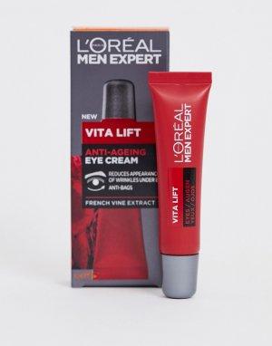 Антивозрастной крем для кожи вокруг глаз LOreal Men Expert Vita Lift, 15 мл-Бесцветный L'Oreal