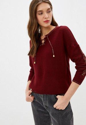 Пуловер Viserdi. Цвет: бордовый