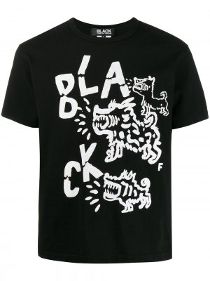 Футболка с графичным принтом Black Comme Des Garçons. Цвет: черный