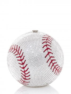Baseball Ball sphere-shaped clutch Judith Leiber. Цвет: metallic