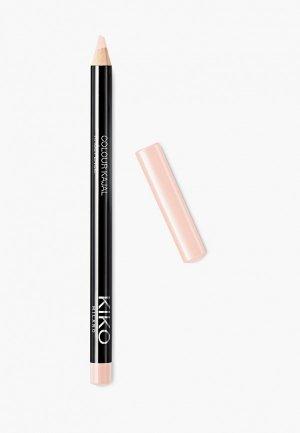 Карандаш для глаз Kiko Milano каял внутреннего контура век COLOUR KAJAL, оттенок 03, Butter, 1.05 г. Цвет: розовый