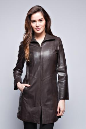 Кожаная куртка John & Yoko. Цвет: brown