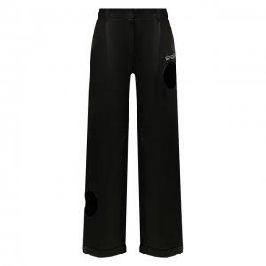 Кожаные брюки Off-White. Цвет: чёрный