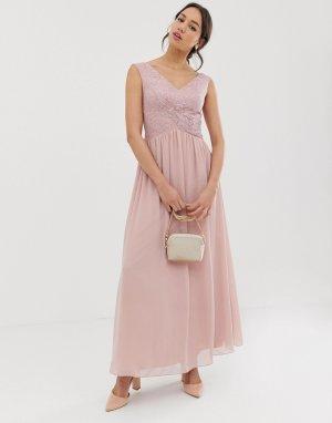 Платье макси с запахом -Розовый Little Mistress