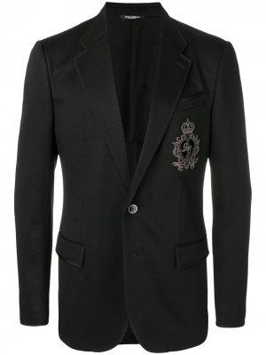 Блейзер строгого кроя Dolce & Gabbana. Цвет: черный