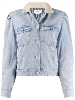 Джинсовая куртка Nolinea с контрастным воротником Isabel Marant Étoile. Цвет: фиолетовый