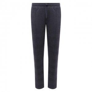 Хлопковые брюки Hanro. Цвет: синий