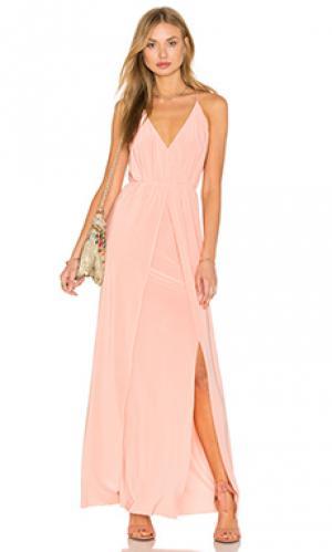Макси платье veronika MISA Los Angeles. Цвет: розовый