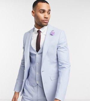 Узкий льняной пиджак Wedding Tall-Голубой Gianni Feraud