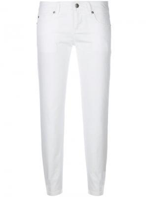Укороченные джинсы узкого кроя Aspesi. Цвет: белый
