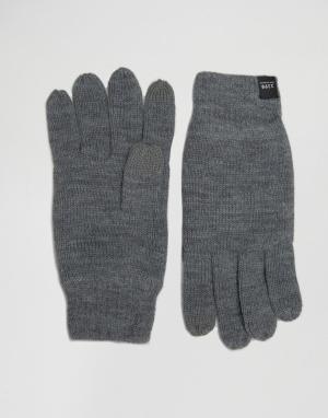 Перчатки для сенсорных гаджетов DNA Jack & Jones. Цвет: серый
