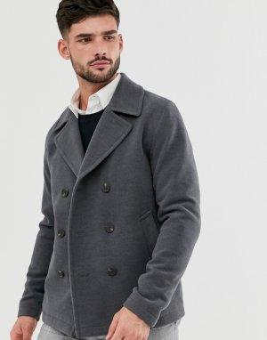 Темно-серое пальто-бушлат Originals-Серый Jack & Jones