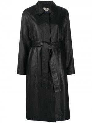 Пальто с поясом Alysi. Цвет: черный