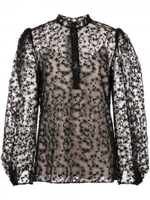 Кружевная блузка Jason Wu Collection. Цвет: черный