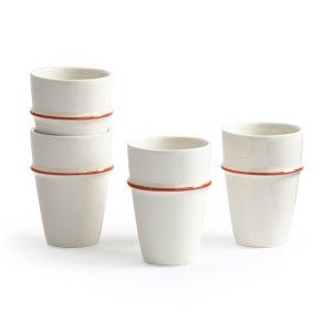 Комплект из 4 чашек в LaRedoute. Цвет: белый