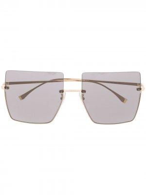 Солнцезащитные очки с затемненными линзами Fendi Eyewear. Цвет: черный
