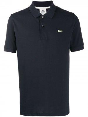 Рубашка поло с вышитым логотипом Lacoste Live. Цвет: синий