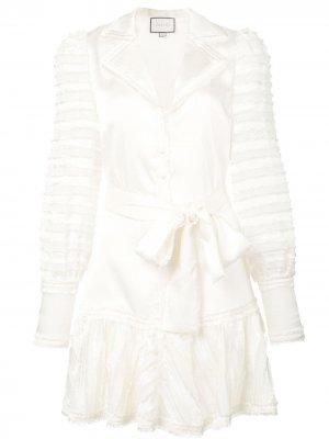 Короткое платье Renita Alexis. Цвет: белый