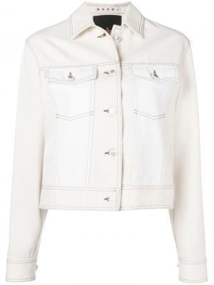 Джинсовая куртка Marni. Цвет: белый