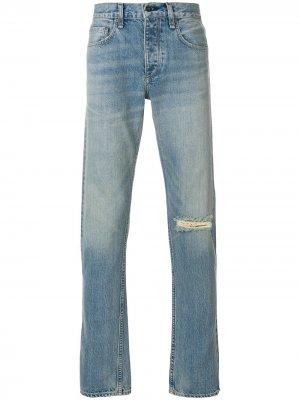 Джинсы с разрезом на колене Rag & Bone. Цвет: синий