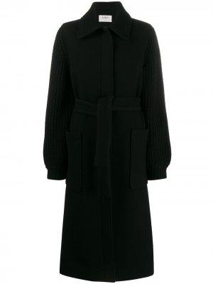Пальто Calas с трикотажными рукавами Ba&Sh. Цвет: черный