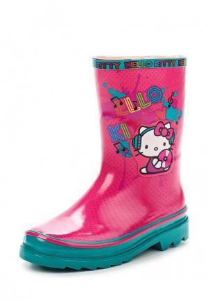 Резиновые сапоги Hello Kitty. Цвет: розовый