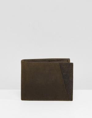 Фактурный бумажник Peter Werth. Цвет: зеленый