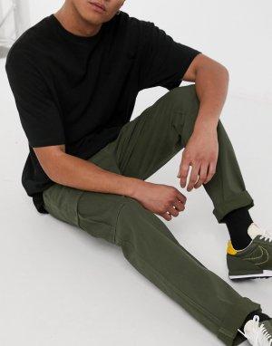 Зеленые брюки карго классического кроя Intelligence-Зеленый цвет Jack & Jones