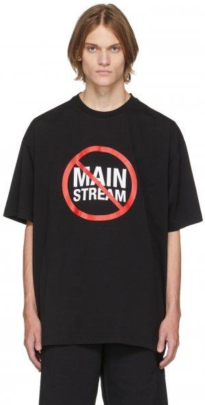 Black No Mainstream T-Shirt VETEMENTS. Цвет: black