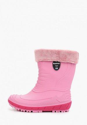 Резиновые сапоги Kuoma температурный режим от -2 до +5. Цвет: розовый
